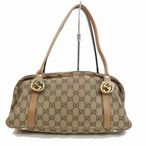 Gucci GG Logo Canvas Boston Bag